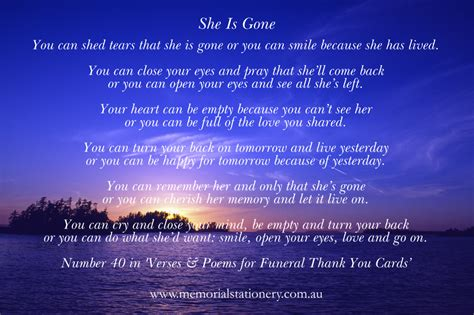 you can shed tears that she is david harkins funeral wordings memorial funeral stationery
