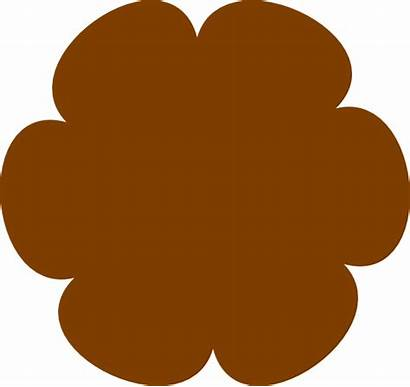 Brown Flower Clip Clipart Clker Vector Cliparts