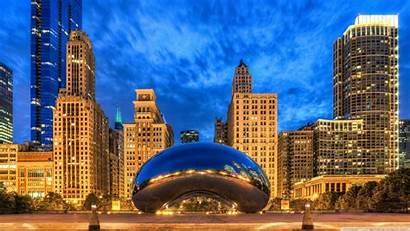 Chicago Illinois Gate Cloud States United Laptop