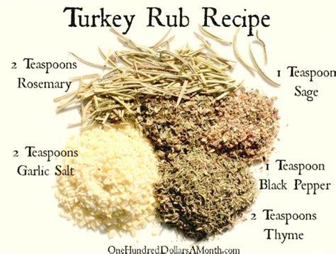 turkey rub spice rubbed turkey recipe dishmaps