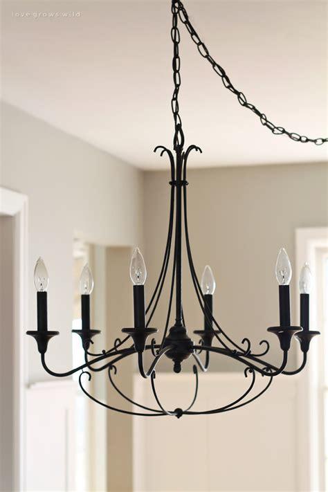 chandelier kitchen lighting diy farmhouse table grows 2077