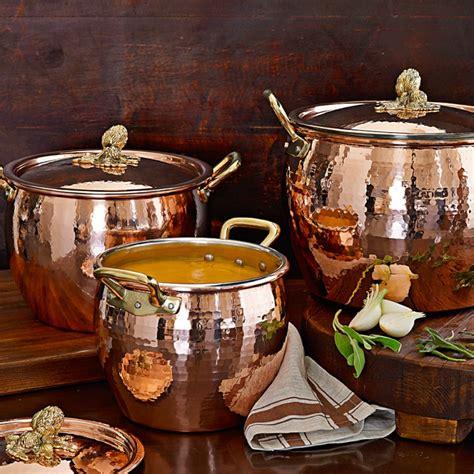 ruffoni historia hammered copper stock pot  artichoke