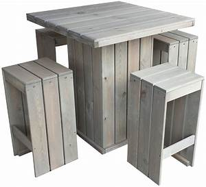 Bar Aus Holz : bar set stehtisch und 4 barhocker aus fsc holz gartentisch partytisch holztisch plus 4 hocker ~ Eleganceandgraceweddings.com Haus und Dekorationen