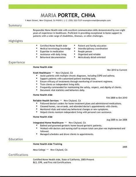 home health aide resume http jobresumesle 1693