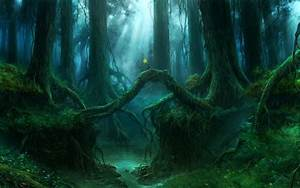 gothic forest | Gothic Forest Trees Fantasy river mood ...