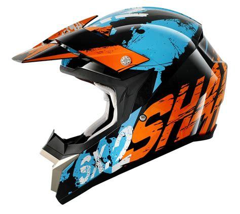 new motocross helmets shark helmets new mx sx2 freak orange blue motocross dirt