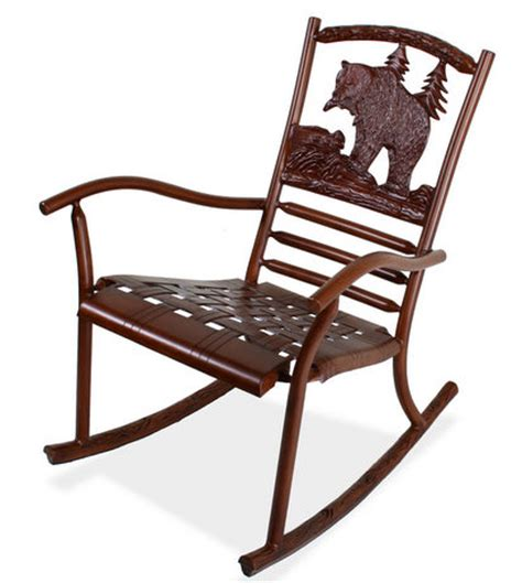 rustic outdoor rocking chair