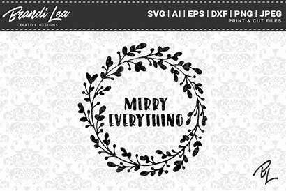 Svg Cricut Merry Everything Designbundles