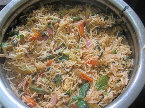 tamil cuisine recipes vegetable biryani in tamil veg dum biryani recipe