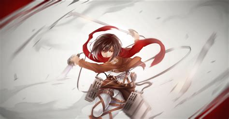 shingeki  kyojin mikasa wallpaper  background image