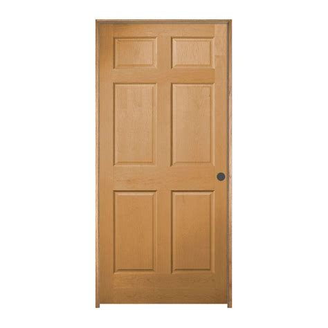 jeld wen interior doors jeld wen 36 in x 81 5 in woodgrain 6 panel unfinished