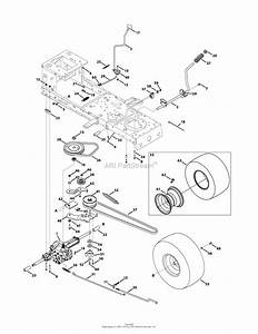 Mtd 13ax771s004  2011  Parts Diagram For Transmission Drive Assembly