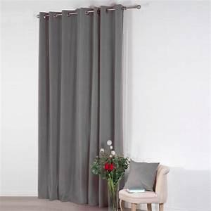 Rideau Gris Clair : rideau 140 x h260 cm velours gris clair rideau tamisant eminza ~ Teatrodelosmanantiales.com Idées de Décoration
