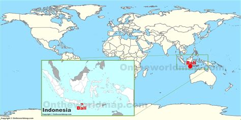 bali indonesia  world map  travel information