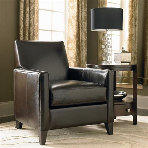 bryce leather chair by bassett furniture bassett chairs