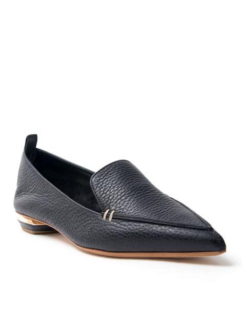 lyst nicholas kirkwood pointed loafer  black
