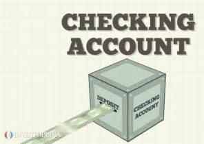Checking Bank Account