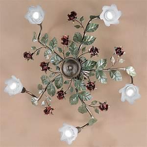 Lampen Im Landhausstil : florentiner landhaus deckenleuchte im floralen stil von ~ Michelbontemps.com Haus und Dekorationen