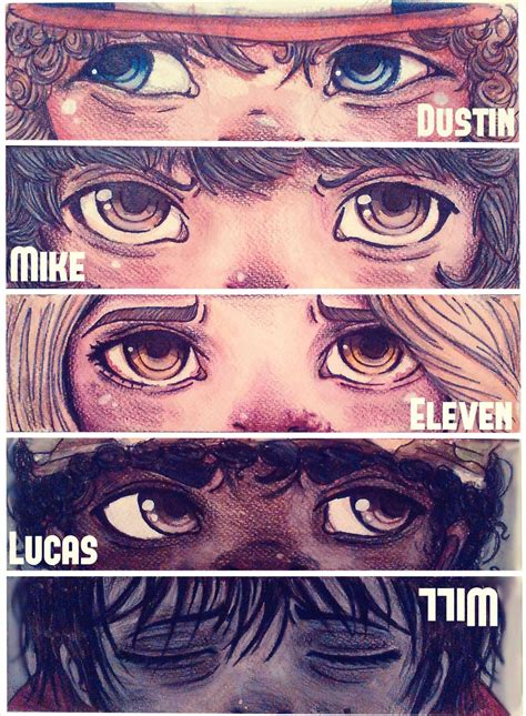 Stranger Things art - Dustin, Mike, Eleven, Lucas, and ...