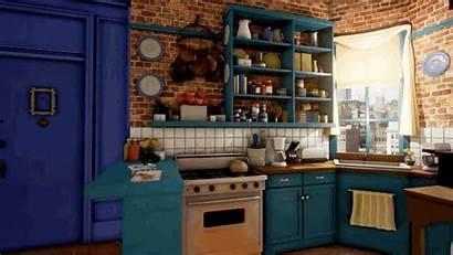 Friends Apartment Monica Unreal Monicas Engine Kitchen