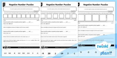 * New * Planit Mathematics Y6 Number And Algebra Negative Number