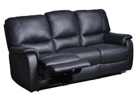 canape cuir relax pas cher canap 233 relaxation 3 places kamate coloris noir canap 233 conforama ventes pas cher