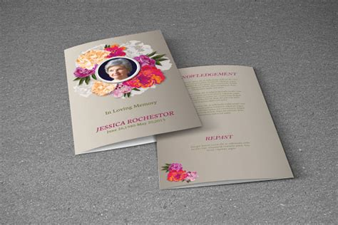 funeral brochure template   documents