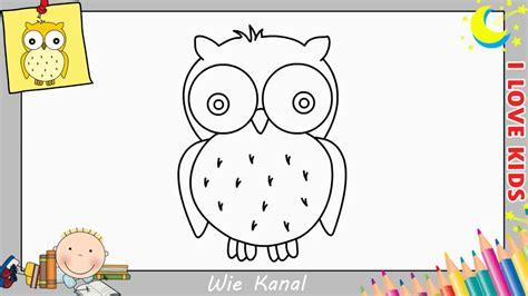 eule malen einfach eule zeichnen lernen einfach schritt f 252 r schritt f 252 r anf 228 nger kinder 3