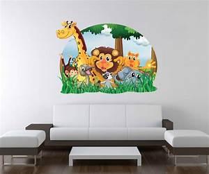 Wandtattoo Tiere Kinderzimmer : 3d wandtattoo tiere kinderzimmer l we giraffe affe wand ~ Watch28wear.com Haus und Dekorationen