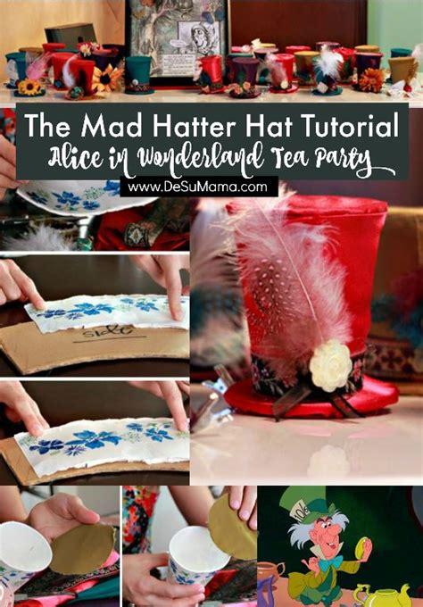 diy mad hatter tea party hat tutorial de su mama