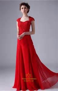 crimson bridesmaid dresses cap sleeve prom dresses chiffon prom dress with cap sleeves val dresses