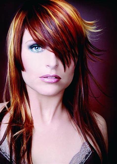 red hair color ideas  highlights  hair color
