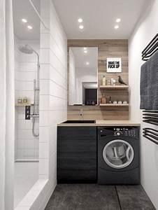 Machine à Laver Petite : 9 petites salles de bains avec lave linge astuces conseils ~ Melissatoandfro.com Idées de Décoration