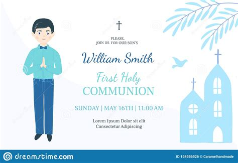 First Holy Communion Invitation Design Template Christian