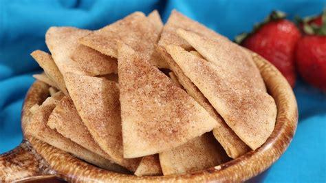 baked cinnamon sugar tortilla chips youtube