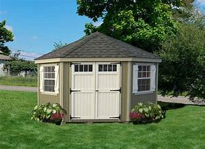little cottage company 10x10 colonial five corner wood With backyard products sheds