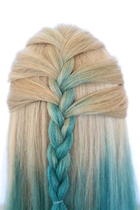 mermaid  updo   style  braid plait beauty