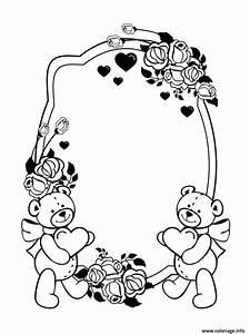 Dessin Saint Valentin : coloriage cadre frame saint valentin ~ Melissatoandfro.com Idées de Décoration
