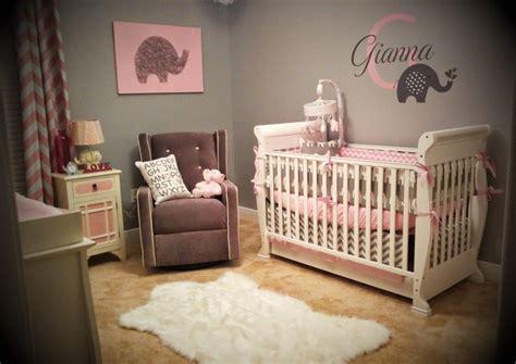giannas pink  gray elephant nursery reveal baby