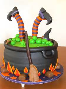 Halloween Witch Cauldron Cake