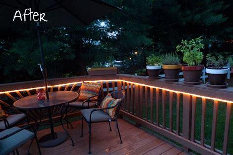 mood lighting rope light  deck    deck