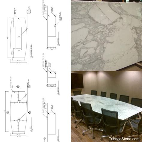 marble conference tribeca created this custom calacatta gold marble