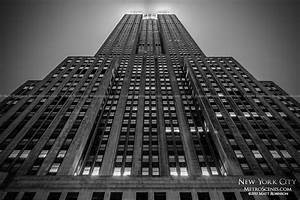 Black and White Empire State Building at night ...