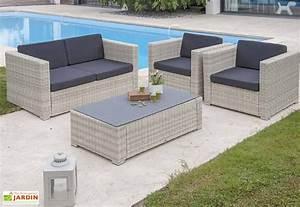 Salon Jardin Resine Tressée : salon de jardin resine mobilier jardin maisonjoffrois ~ Premium-room.com Idées de Décoration