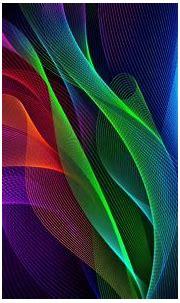 Download 1920x1200 wallpaper waves, colorful, razer phone ...