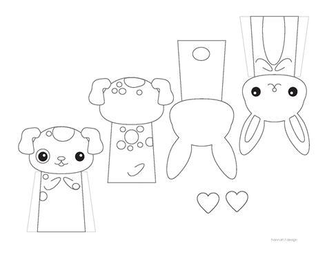Paper Finger Puppets Templates by Finger Puppets Sponsor Impact