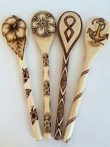 Hand Wood Burned Wooden Spoon Nautical by