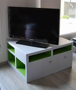 Meuble Angle Tv : meuble angle tv meubles en carton angers ~ Teatrodelosmanantiales.com Idées de Décoration