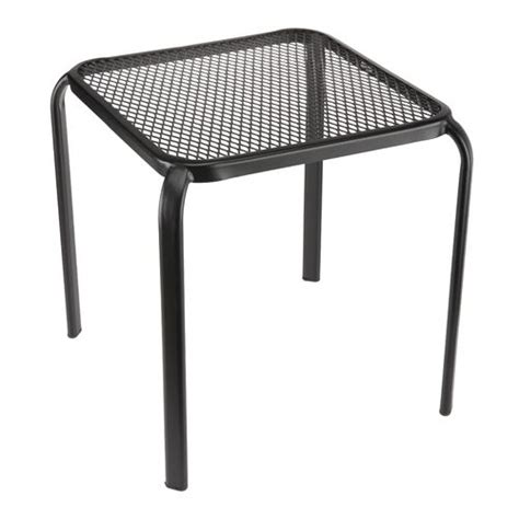 inspiring metal patio side table patio design 386