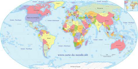 Carte Du Monde Avec Nom Des Pays Et Océans by Planisph 232 Re Du Monde Avec Nom Des Pays